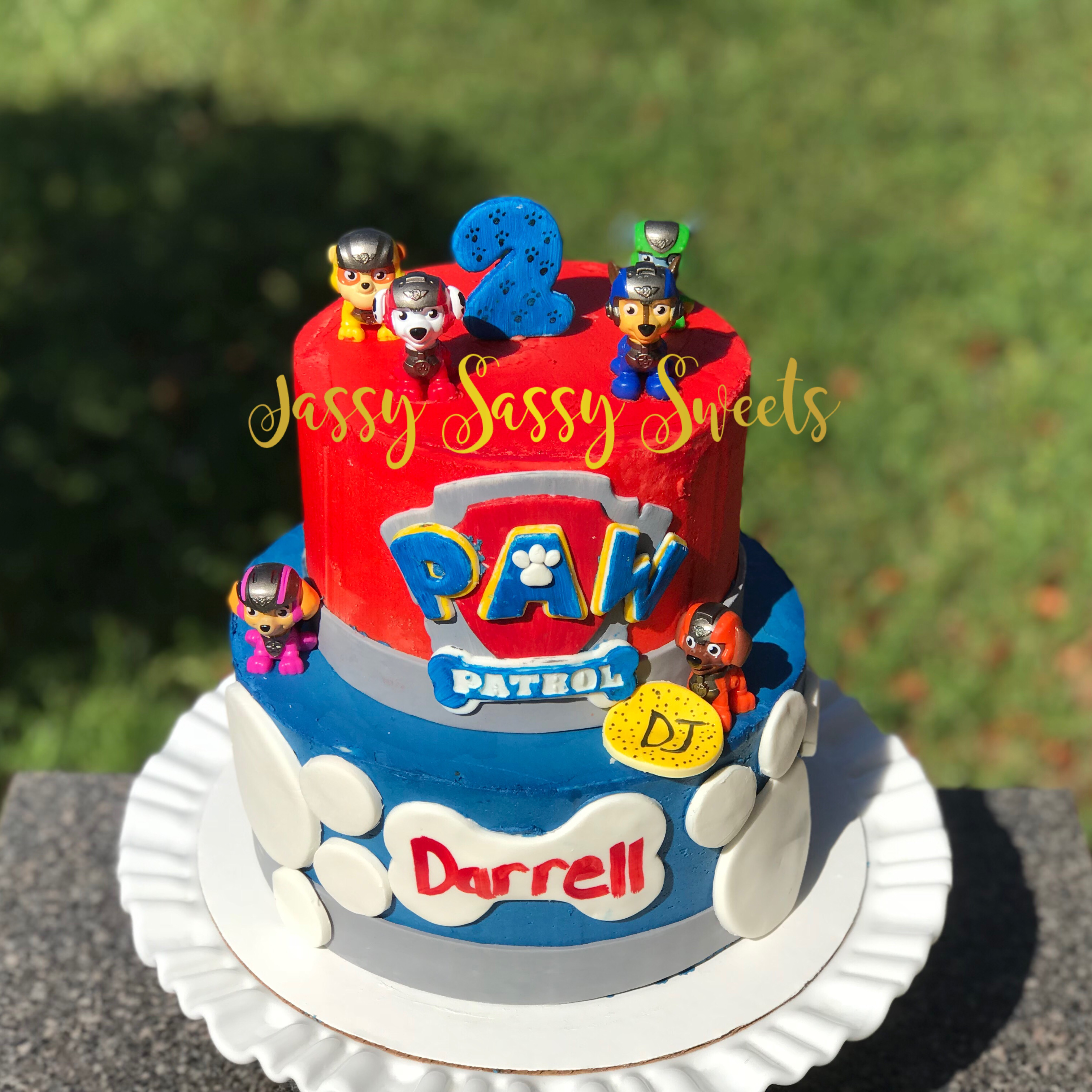 Paw Patrol Themed Cake made by Jassy Sassy Sweets