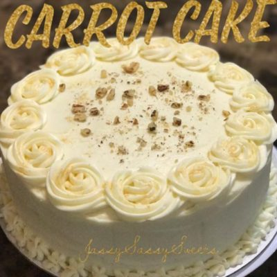 Carrot Cake made by Jassy Sassy Sweets