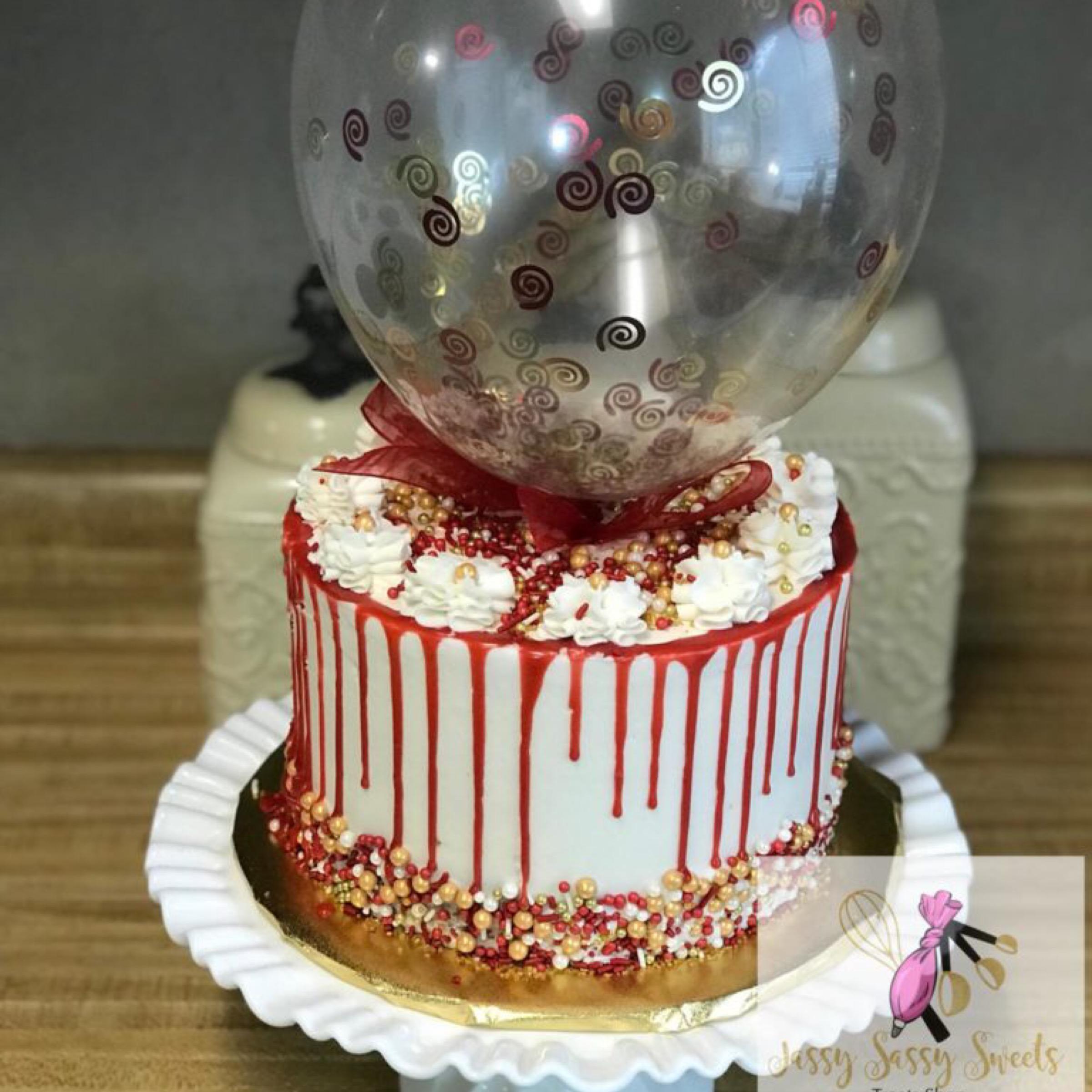 Balloon Cake made by Jassy Sassy Sweets