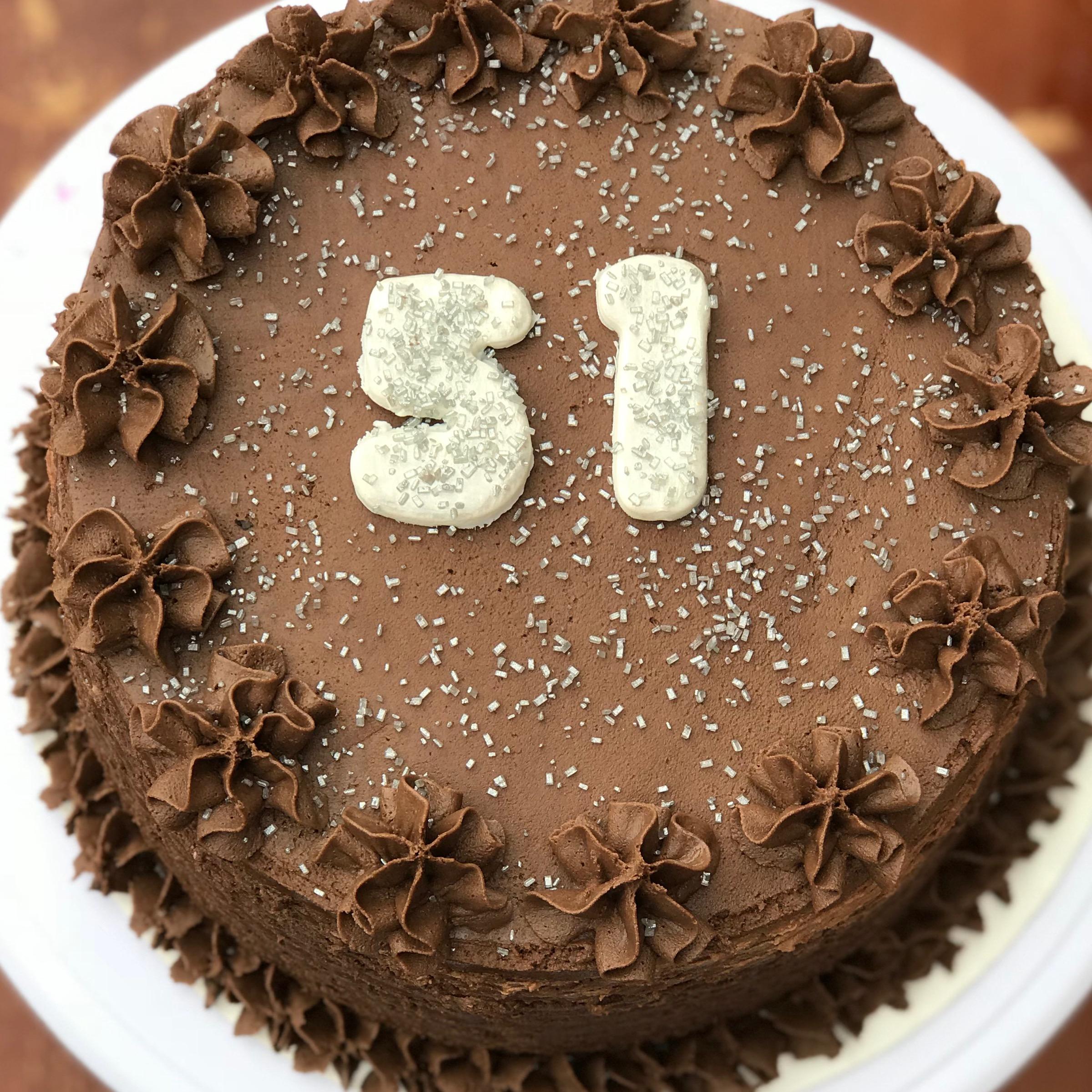 51 Birthday Cake made by Jassy Sassy Sweets