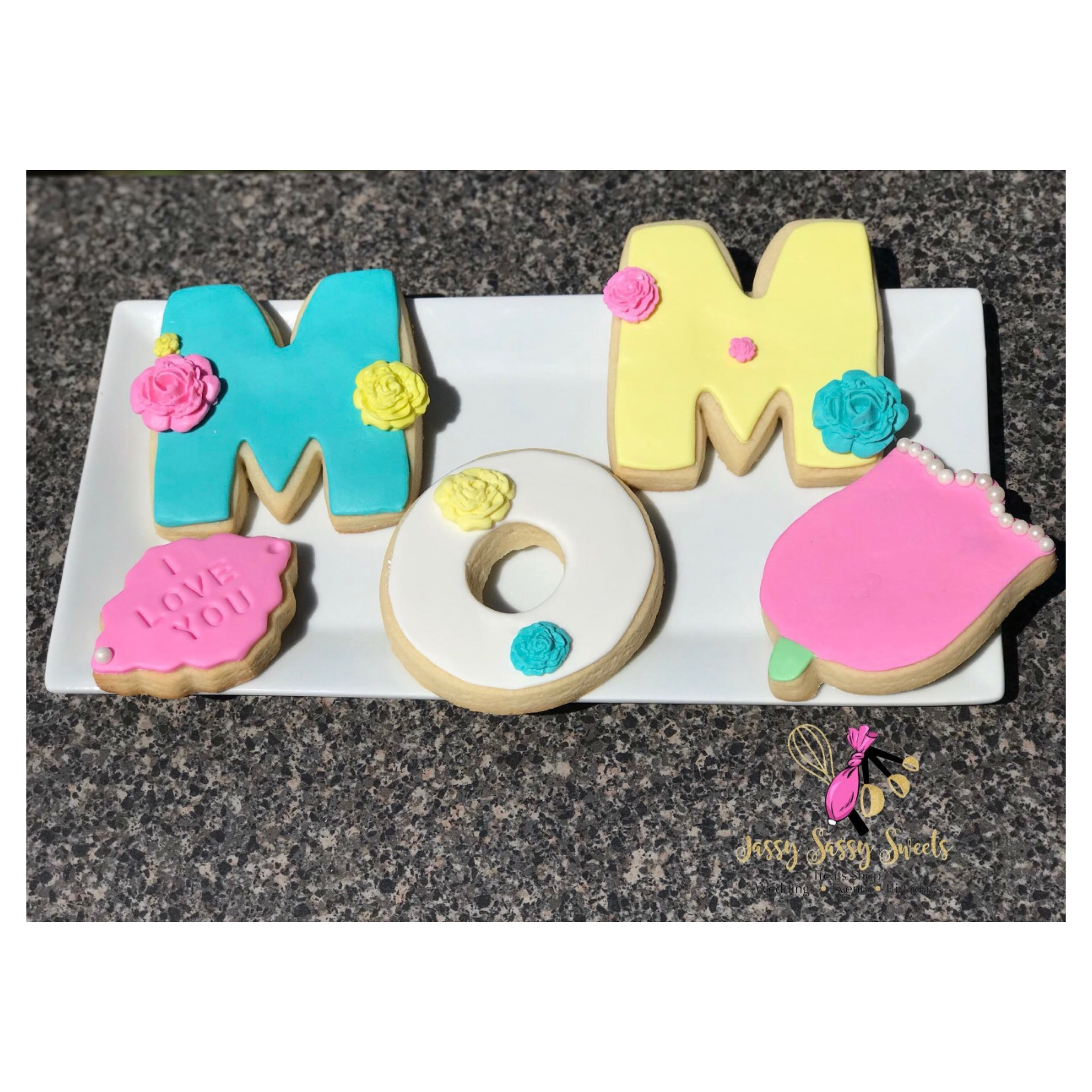 Mother's Day Cookies made by Jassy Sassy Sweets